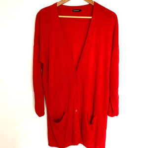 Marimekko Red Long Cardigan Sweater
